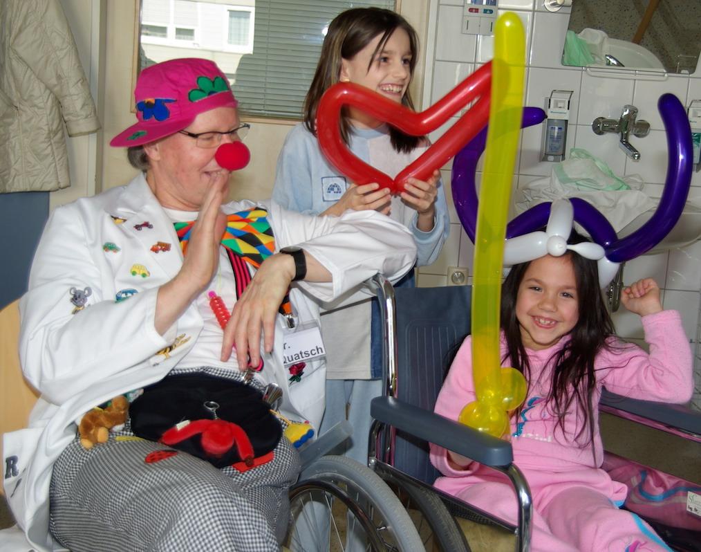 Klinikclown Dr Quatsch macht Lachtherapie in Stuttgart und Esslingen